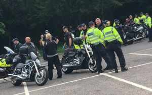 Massive police presence as thousands of Hell's Angels